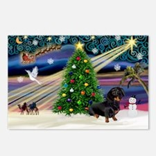 Xmas Magic-Doxie (Blk) Postcards (Package of 8)