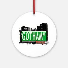 GOTHAM AV, BROOKLYN, NYC Ornament (Round)
