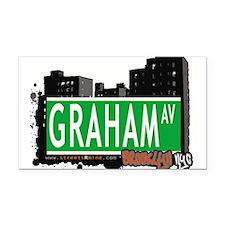 GRAHAM AV, BROOKLYN, NYC Rectangle Car Magnet