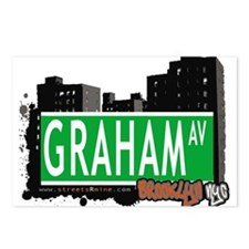 GRAHAM AV, BROOKLYN, NYC Postcards (Package of 8)