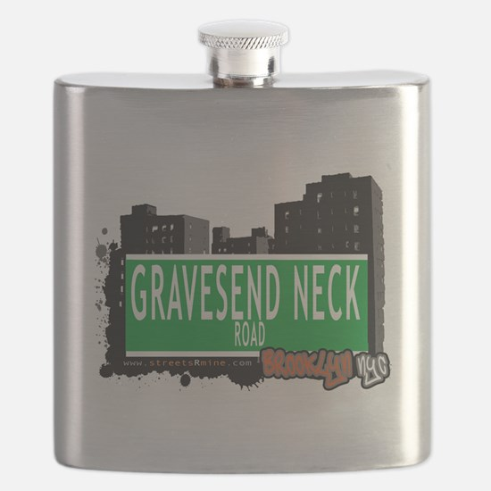 GRAVESEND NECK ROAD, BROOKLYN, NYC Flask