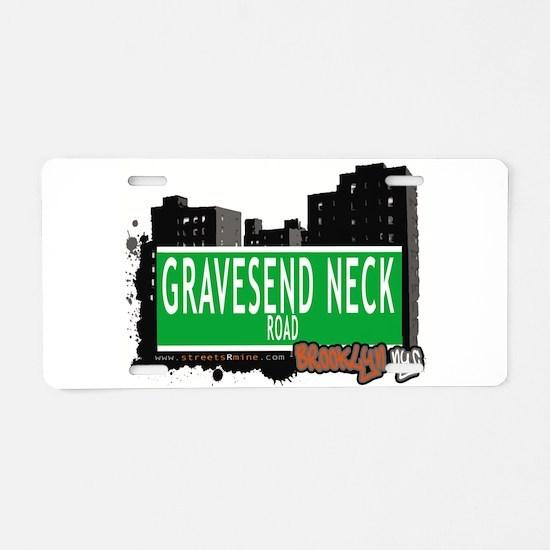 GRAVESEND NECK ROAD, BROOKLYN, NYC Aluminum Licens