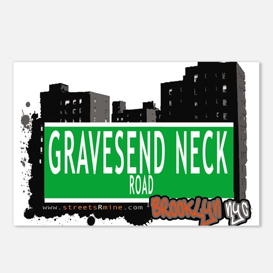GRAVESEND NECK ROAD, BROOKLYN, NYC Postcards (Pack