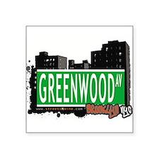 "GREENWOOD AV, BROOKLYN, NYC Square Sticker 3"" x 3"""