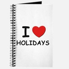 I love holidays Journal
