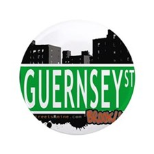 """GUERNSEY ST, BROOKLYN, NYC 3.5"""" Button"""