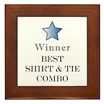 The Snappy Dresser Award - Framed Tile