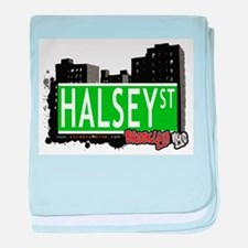 HALSEY ST, BROOKLYN, NYC baby blanket