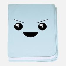 Kawaii Mischievous Face baby blanket