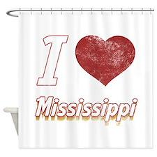 I Love Mississippi (Vintage) Shower Curtain