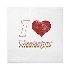 I Love Mississippi (Vintage) Queen Duvet