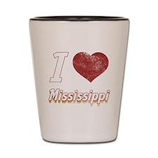 I Love Mississippi (Vintage) Shot Glass