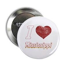 """I Love Mississippi (Vintage) 2.25"""" Button"""