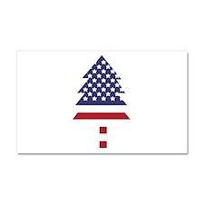 US Flag Pine Tree Car Magnet 20 x 12