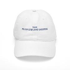Team Polish Lowland Sheepdog Baseball Cap
