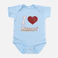 I Love Missouri (Vintage) Infant Bodysuit