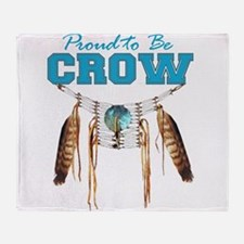 Proud to be Crow Throw Blanket