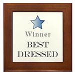 The Cat Walk Award - Framed Tile