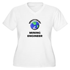 World's Coolest Mining Engineer Plus Size T-Shirt