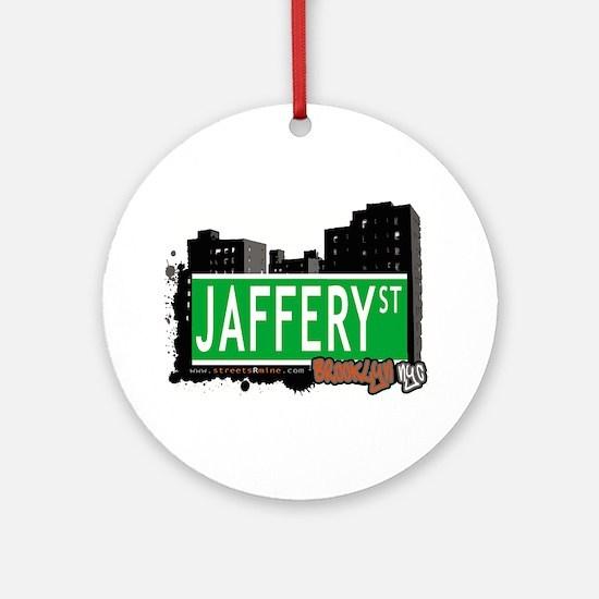 JAFFERY ST, BROOKLYN, NYC Ornament (Round)