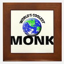 World's Coolest Monk Framed Tile