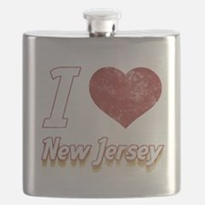 I Love New Jersey (Vintage) Flask