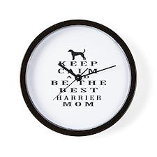 Keep Calm Harrier Designs Wall Clock