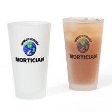 World's Coolest Mortician Drinking Glass