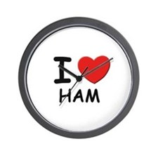I love ham Wall Clock