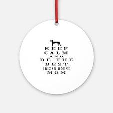 Keep Calm Ibizan Hound Designs Ornament (Round)