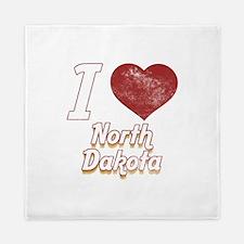 I Love North Dakota (Vintage) Queen Duvet