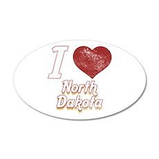 I Love North Dakota (Vintage) Wall Decal