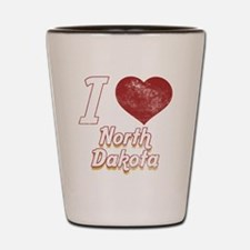 I Love North Dakota (Vintage) Shot Glass