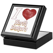 I Love North Dakota (Vintage) Keepsake Box