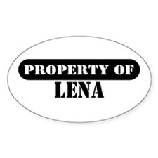 Property of Lena Oval Decal