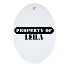 Property of Leila Oval Ornament