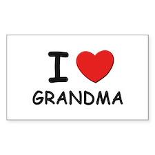 I love grandma Rectangle Decal