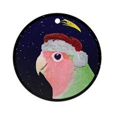 Christmas Night Peachfaced Lovebird Ornament