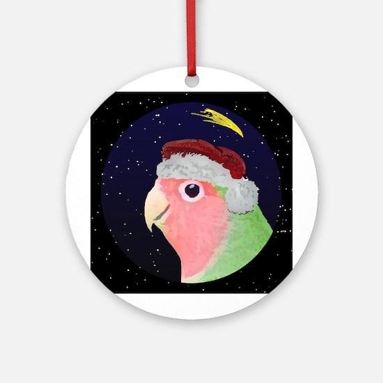 Christmas Night Peachfaced Lovebird Ornament