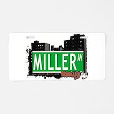 MILLER AV, BROOKLYN, NYC Aluminum License Plate