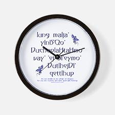 Affairs of Dragons (Klingon) Wall Clock
