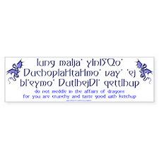 Affairs of Dragons (Klingon) Bumper Bumper Sticker