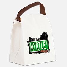 MYRTLE AV, BROOKLYN, NYC Canvas Lunch Bag