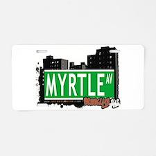 MYRTLE AV, BROOKLYN, NYC Aluminum License Plate