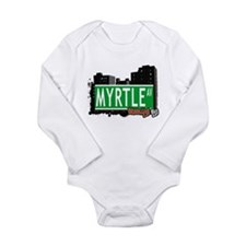 MYRTLE AV, BROOKLYN, NYC Long Sleeve Infant Bodysu