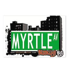 MYRTLE AV, BROOKLYN, NYC Postcards (Package of 8)
