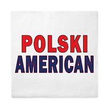 Polski American Text Queen Duvet