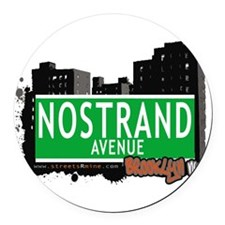 NOSTRAND AVENUE, BROOKLYN, NYC Round Car Magnet
