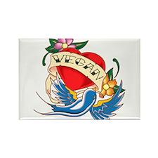 vegan tattoo Rectangle Magnet