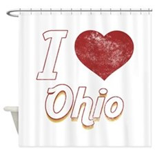I Love Ohio (Vintage) Shower Curtain